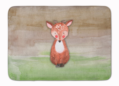 Buy this Baby Deer Watercolor Machine Washable Memory Foam Mat BB7442RUG