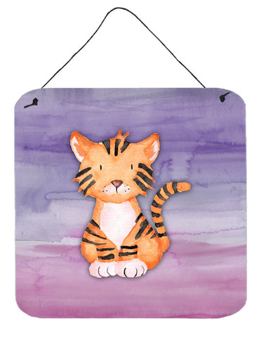 Buy this Tiger Cub Watercolor Wall or Door Hanging Prints BB7444DS66