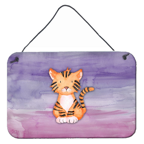 Buy this Tiger Cub Watercolor Wall or Door Hanging Prints BB7444DS812