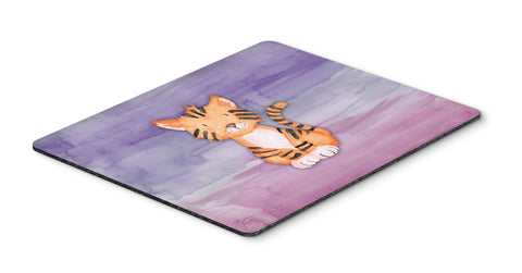 Buy this Tiger Cub Watercolor Mouse Pad, Hot Pad or Trivet BB7444MP