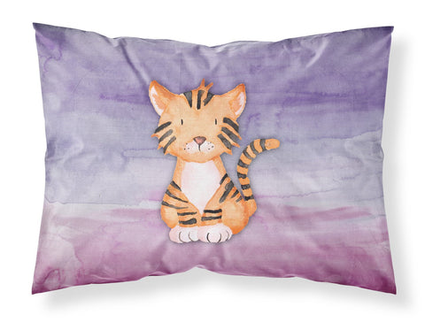 Buy this Tiger Cub Watercolor Fabric Standard Pillowcase BB7444PILLOWCASE