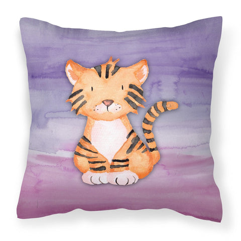Buy this Tiger Cub Watercolor Fabric Decorative Pillow BB7444PW1818