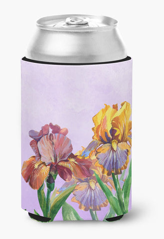 Buy this Purple and Yellow Iris Can or Bottle Hugger BB7445CC