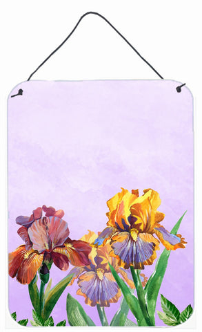 Buy this Purple and Yellow Iris Wall or Door Hanging Prints BB7445DS1216