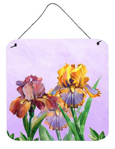 Buy this Purple and Yellow Iris Wall or Door Hanging Prints BB7445DS66