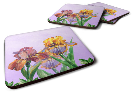 Buy this Purple and Yellow Iris Foam Coaster Set of 4 BB7445FC