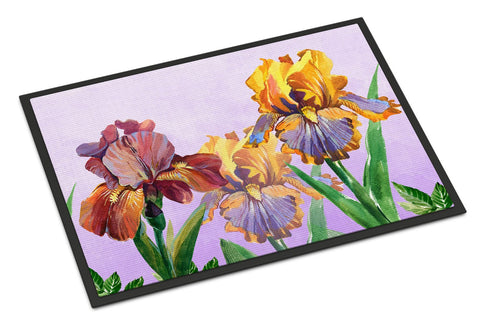 Buy this Purple and Yellow Iris Indoor or Outdoor Mat 24x36 BB7445JMAT