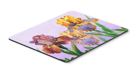 Buy this Purple and Yellow Iris Mouse Pad, Hot Pad or Trivet BB7445MP
