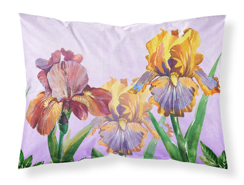Buy this Purple and Yellow Iris Fabric Standard Pillowcase BB7445PILLOWCASE