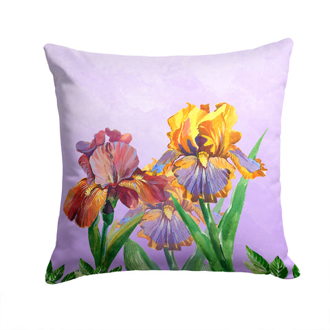 Buy this Purple and Yellow Iris Fabric Decorative Pillow BB7445PW1414