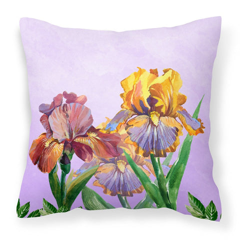 Buy this Purple and Yellow Iris Fabric Decorative Pillow BB7445PW1818