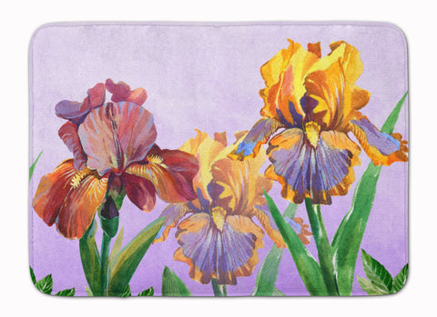 Buy this Purple and Yellow Iris Machine Washable Memory Foam Mat BB7445RUG