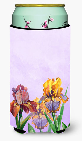 Buy this Purple and Yellow Iris Tall Boy Beverage Insulator Hugger BB7445TBC