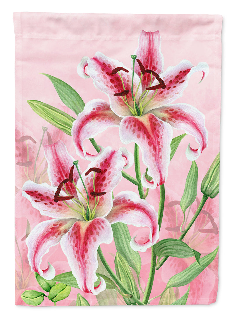 Pink Lillies Flag Canvas House Size BB7446CHF