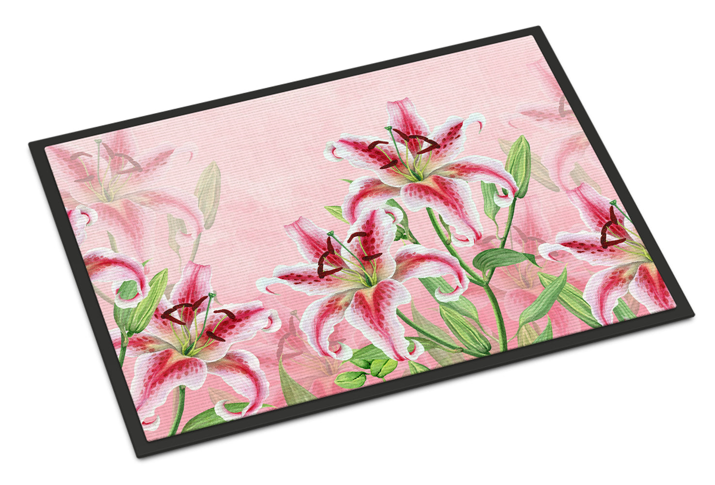 Buy this Pink Lillies Indoor or Outdoor Mat 18x27 BB7446MAT