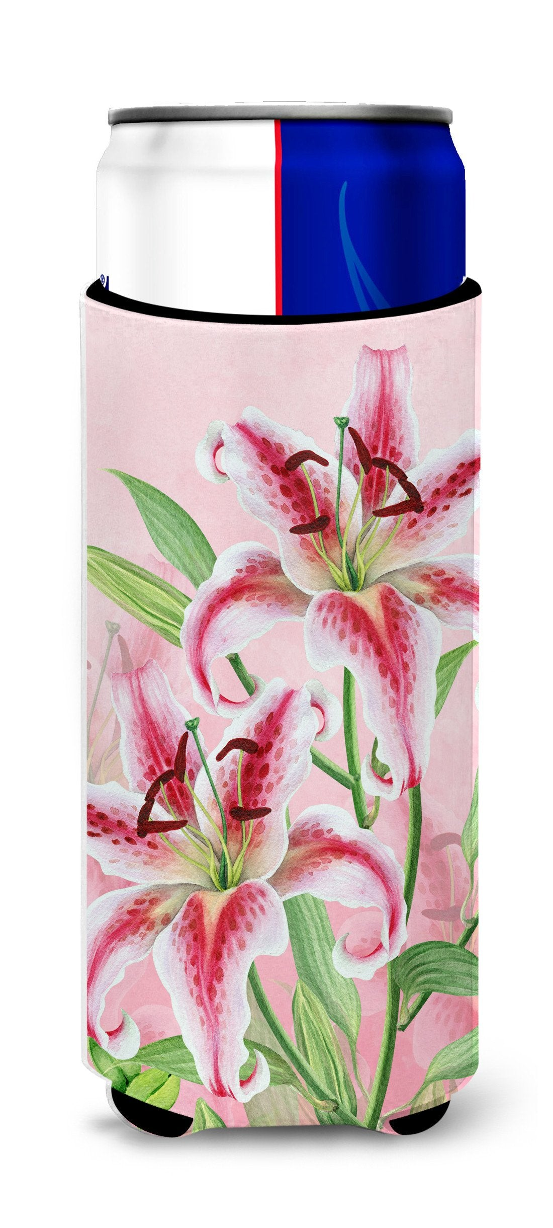 Buy this Pink Lillies Michelob Ultra Hugger for slim cans BB7446MUK