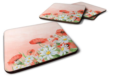 Buy this Poppies and Chamomiles Foam Coaster Set of 4 BB7448FC