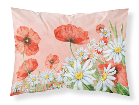 Buy this Poppies and Chamomiles Fabric Standard Pillowcase BB7448PILLOWCASE