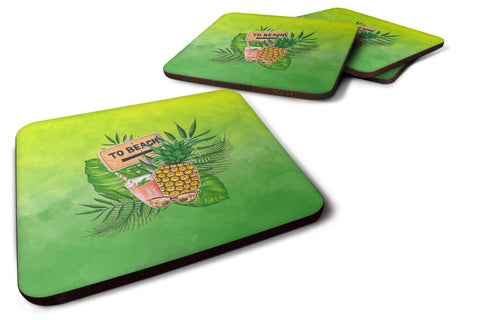 Buy this To the Beach Summer Foam Coaster Set of 4 BB7450FC