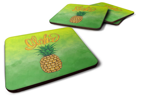 Buy this Aloha Pineapple Welcome Foam Coaster Set of 4 BB7451FC