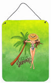 Hello Summer Lady in Swimsuit Wall or Door Hanging Prints BB7452DS1216 by Caroline's Treasures