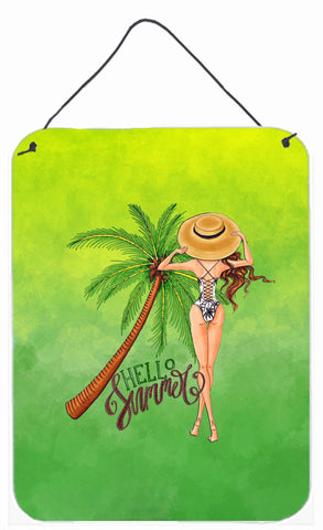 Buy this Hello Summer Lady in Swimsuit Wall or Door Hanging Prints BB7452DS1216