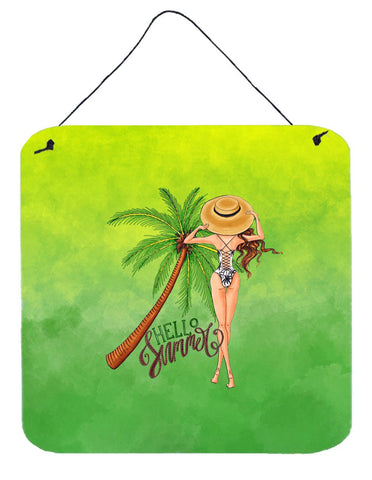 Buy this Hello Summer Lady in Swimsuit Wall or Door Hanging Prints BB7452DS66