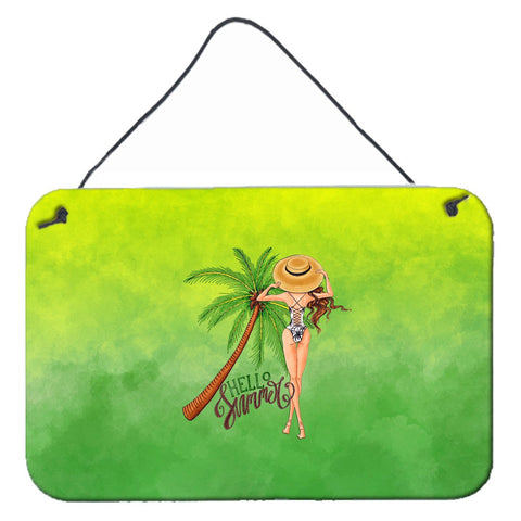 Buy this Hello Summer Lady in Swimsuit Wall or Door Hanging Prints BB7452DS812