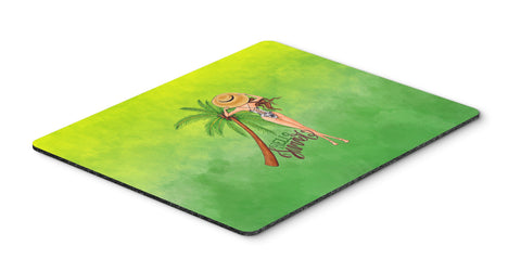 Buy this Hello Summer Lady in Swimsuit Mouse Pad, Hot Pad or Trivet BB7452MP