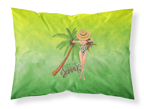 Buy this Hello Summer Lady in Swimsuit Fabric Standard Pillowcase BB7452PILLOWCASE