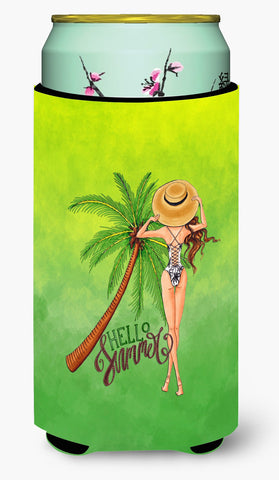 Buy this Hello Summer Lady in Swimsuit Tall Boy Beverage Insulator Hugger BB7452TBC