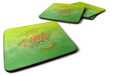 Buy this Summer Time Foam Coaster Set of 4 BB7453FC