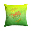 Summer Time Fabric Decorative Pillow BB7453PW1414 by Caroline's Treasures