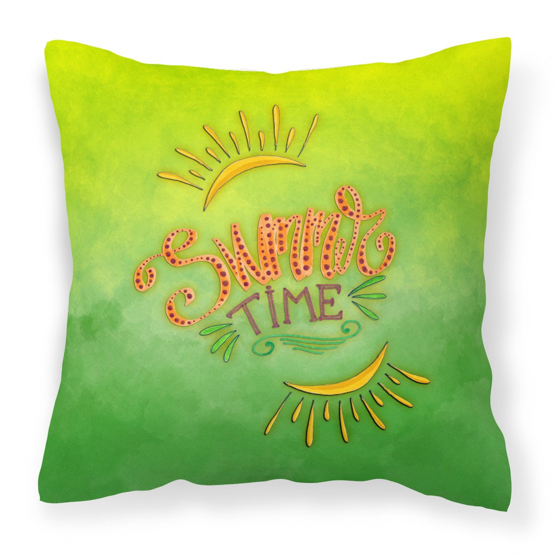 Summer Time Fabric Decorative Pillow BB7453PW1818 by Caroline's Treasures