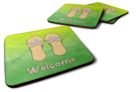 Buy this Flip Flops Welcome Foam Coaster Set of 4 BB7454FC