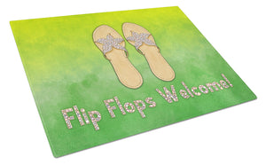 Buy this Flip Flops Welcome Glass Cutting Board Large BB7454LCB