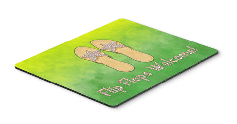 Buy this Flip Flops Welcome Mouse Pad, Hot Pad or Trivet BB7454MP