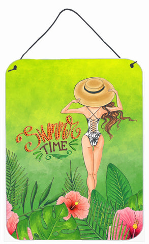 Buy this Summer Time Lady in Swimsuit Wall or Door Hanging Prints BB7455DS1216