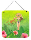 Summer Time Lady in Swimsuit Wall or Door Hanging Prints BB7455DS66 by Caroline's Treasures