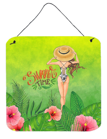 Buy this Summer Time Lady in Swimsuit Wall or Door Hanging Prints BB7455DS66