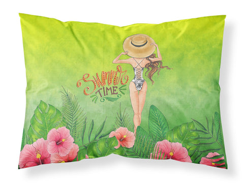 Buy this Summer Time Lady in Swimsuit Fabric Standard Pillowcase BB7455PILLOWCASE