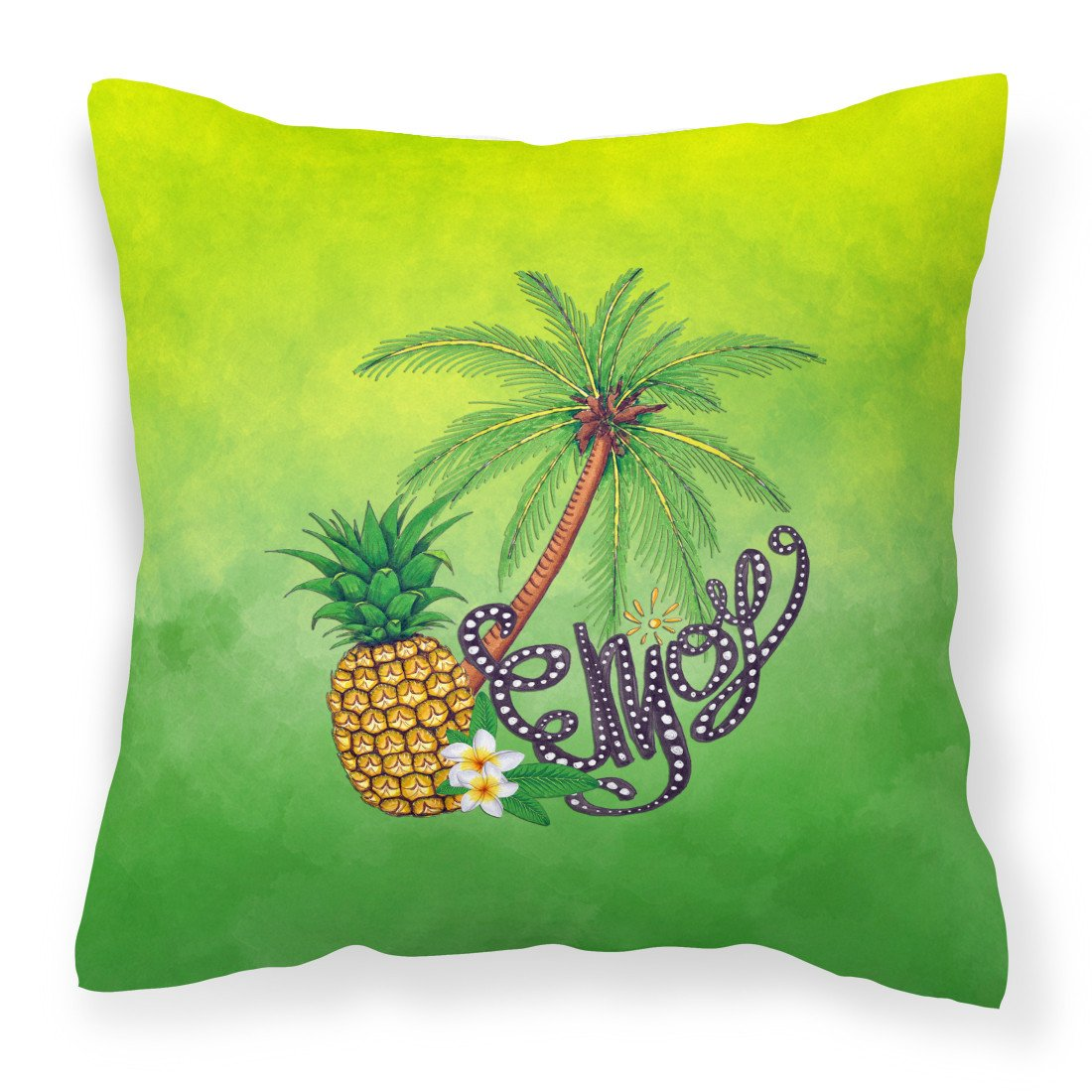 Summer Enjoy Fabric Decorative Pillow BB7456PW1818 by Caroline's Treasures