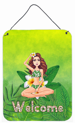 Buy this Welcome Lady in Bikini Summer Wall or Door Hanging Prints BB7457DS1216