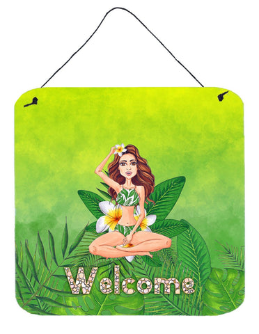 Buy this Welcome Lady in Bikini Summer Wall or Door Hanging Prints BB7457DS66