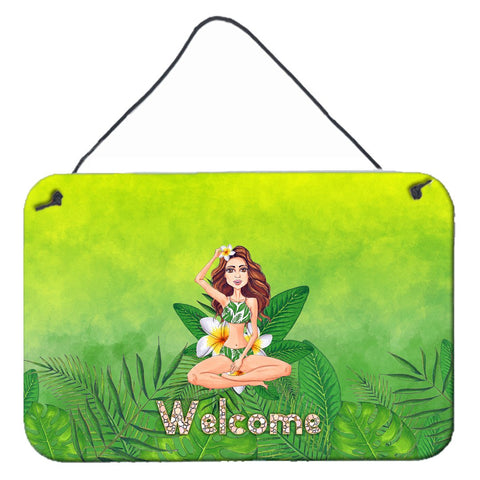 Buy this Welcome Lady in Bikini Summer Wall or Door Hanging Prints BB7457DS812
