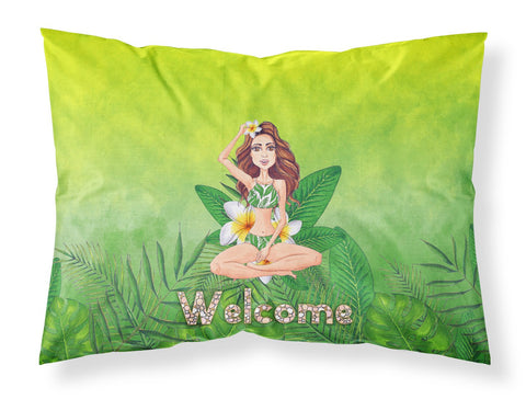 Buy this Welcome Lady in Bikini Summer Fabric Standard Pillowcase BB7457PILLOWCASE