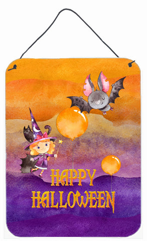 Buy this Halloween Little Witch and Bat Wall or Door Hanging Prints BB7458DS1216