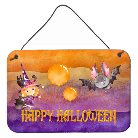 Buy this Halloween Little Witch and Bat Wall or Door Hanging Prints BB7458DS812