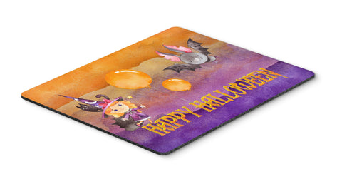 Buy this Halloween Little Witch and Bat Mouse Pad, Hot Pad or Trivet BB7458MP