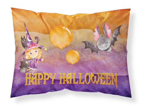 Buy this Halloween Little Witch and Bat Fabric Standard Pillowcase BB7458PILLOWCASE